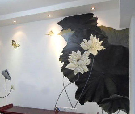 墙绘艺术_艺术学校墙绘图案舞蹈