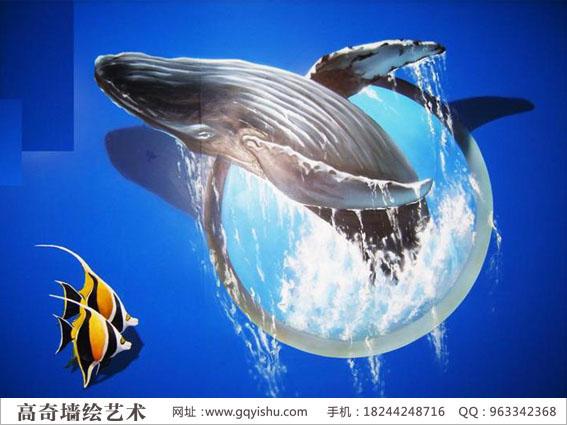鱼墙绘图片素材